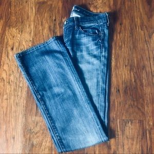 7 for all Mankind Bleached Bootcut Jeans Size 26